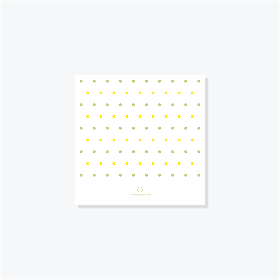 Faire-part Confettis – Jaune & Vert –Dos