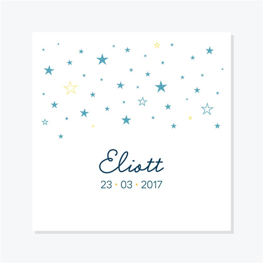 Faire-part naissance – Étoiles