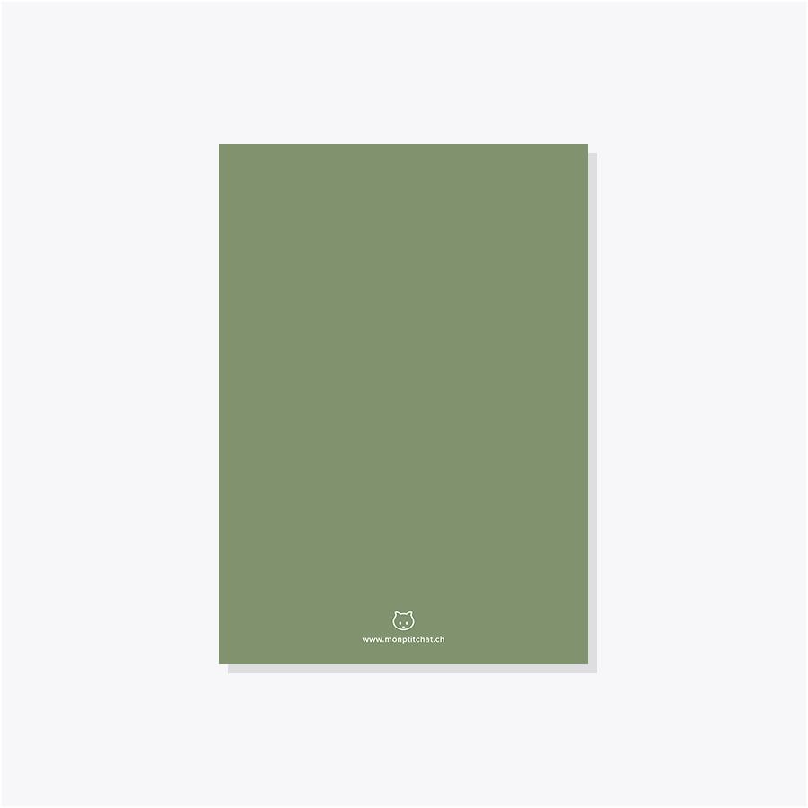 Faire-part mariage – Pois – Jaune & olive – Dos