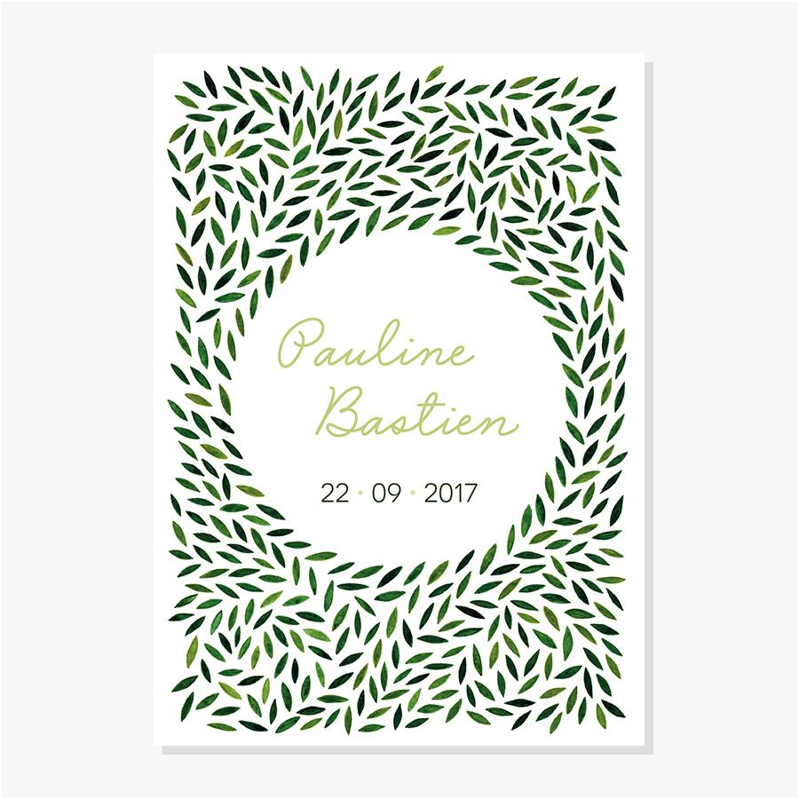 Faire-part mariage – Botanique