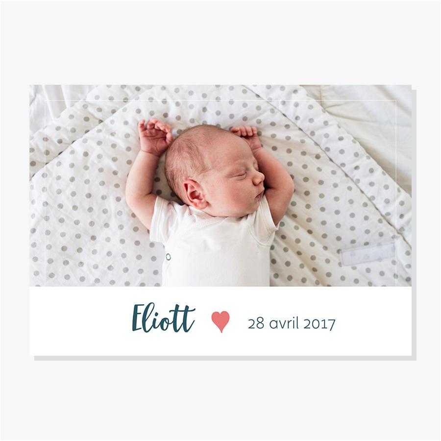 Faire-part naissance – Photo – Corail